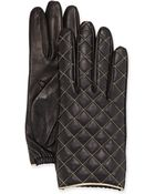 Portolano Diamond-Quilted Leather Glove - Lyst