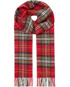 Johnstons Lambswool Checked Scarf - For Men - Lyst