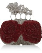 Alexander McQueen Knuckle Bead and Swarovski Crystalembellished Canvas Box Clutch - Lyst