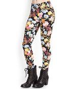 Forever 21 Floral Print Leggings - Lyst