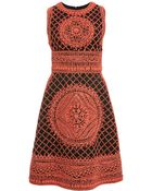 Naeem Khan Lattice Embroidered Dress - Lyst