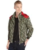 Moncler Green Camo Printed Nylon Hooded 'Rufin' Jacket - Lyst
