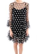 Dolce & Gabbana Polka Dot Embroidered Tulle Dress - Lyst
