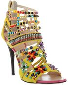 Giuseppe Zanotti Brasil Embellished Leather Sandals - Lyst