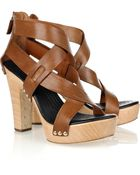 Givenchy Crossover Leather Sandals - Lyst