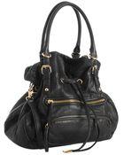 Steven by Steve Madden Black Lambskin Leather Btulip Convertible Bag - Lyst