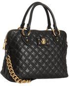 Marc Jacobs Black Quilted Leather The Standard Shoulder Bag - Lyst