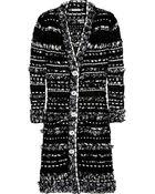 Oscar de la Renta Bouclé-tweed Coat - Lyst
