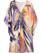 Matthew Williamson Blur Lace Silk-chiffon Kaftan - Lyst