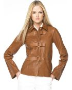 Michael Kors Toggle Leather Jacket - Lyst