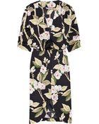 Tucker Printed Silk Crepe De Chine Dress - Lyst