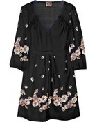 Juicy Couture Printed Silk-satin Dress - Lyst