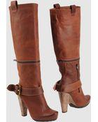 Goffredo Fantini Highheeled Boots - Lyst