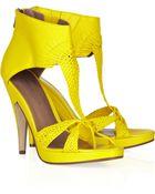 Sigerson Morrison Woven Leather Platform Sandals - Lyst