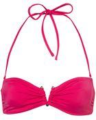 Topshop Purple Bandeau Metal V Ring Bikini Top - Lyst