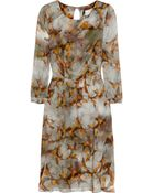 Erdem Angelica Swallow-print Silk Dress - Lyst