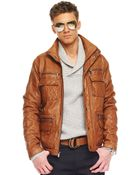 Michael Kors Multi-pocket Leather Jacket - Lyst