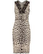 Dolce & Gabbana Lace Trim Dress - Lyst