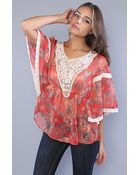 Free People The Printed Daydreamer Top in Red - Lyst