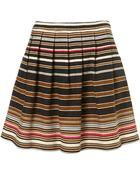 Topshop Premium Stripe Mini Skirt - Lyst