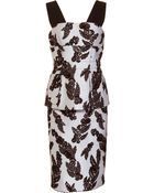 Marc Jacobs Embroidered Peplum Dress - Lyst