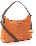 Michael Kors Uptown Astor Medium Messenger, Orange - Lyst