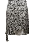 Rue du Mail Printed Silk Pencil Skirt - Lyst