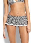 Juicy Couture Little Lulu Skirted Bikini Bottoms - Lyst