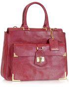 Fendi Classico No. 3 Red Leather Satchel - Lyst