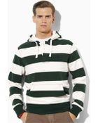 Polo Ralph Lauren Hooded Striped Pullover - Lyst