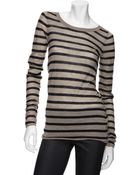 Enza Costa Exclusive Stripe Cashmere Sweater - Lyst