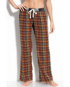 Make + Model Flannel Pants - Lyst