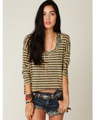 Free People Easy Out Stripe Tee - Lyst