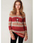 Free People Stripe Tape Yarn Pullover - Lyst