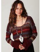 Free People Multi Stripe Pullover - Lyst
