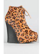 Senso Diffusion The Latrice Shoe in Tan Leopard - Lyst