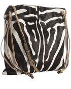 Valentino Black and White Zebra Print Shoulder Bag - Lyst