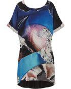 Dion Lee Printed Silk-crepe T-shirt Dress - Lyst