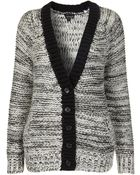 Topshop Knitted Chunky Reverse Cardi - Lyst