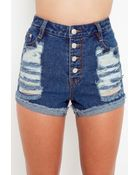 Nasty Gal Dark Feeling Cutoff Shorts - Lyst