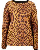 Topshop Leopard Ski Top By Ashish** - Lyst
