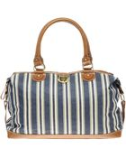 ASOS Collection Asos Holdall in Ticking Stripe Fabric - Lyst