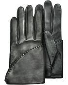 Pineider Women'S Black Short Nappa Gloves W/ Silk Lining - Lyst