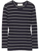 A.L.C. Travis Striped Cotton-jersey Top - Lyst