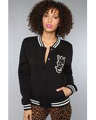 Wesc The Laika Fleece Jacket in Black - Lyst