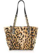 Fontanelli Calfhair Leopard Print Mini Tote - Lyst