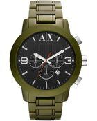 Armani Exchange Aluminum Chronograph Watch - Lyst