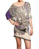 Etro Printed Viscose Knit Dress - Lyst