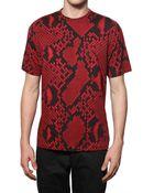 Jil Sander Python Printed Jersey T-shirt - Lyst
