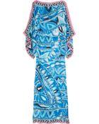 Emilio Pucci Printed Silk-chiffon Kaftan - Lyst